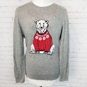 Talbots Petites|Polar Bear Lambswool Sweater